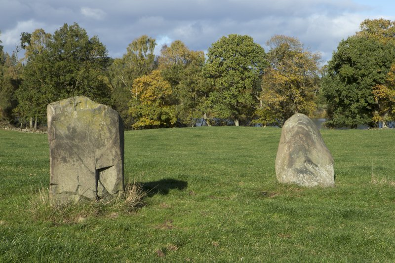 Pair of standing stones, view from south east
