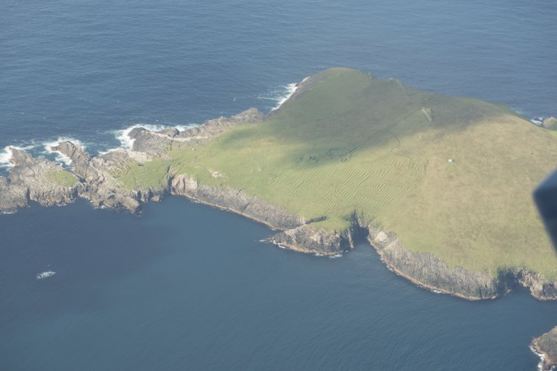General oblique aerial view of North Rona, looking to the NNW.
