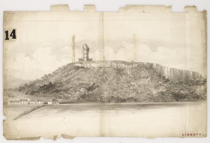 Perspective view of Wallace Monument.