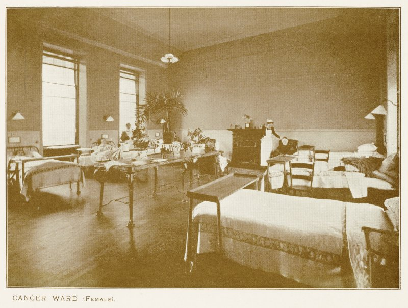 Photograph of Longmore Hospital. Insc: ''Cancer Ward (Female).''