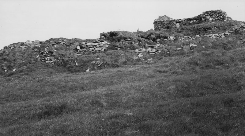 Group A & church from SE in 1976 before SMRU hut was built.