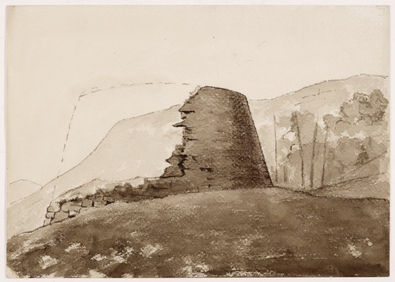 Sketch of exterior of Dun Troddan.