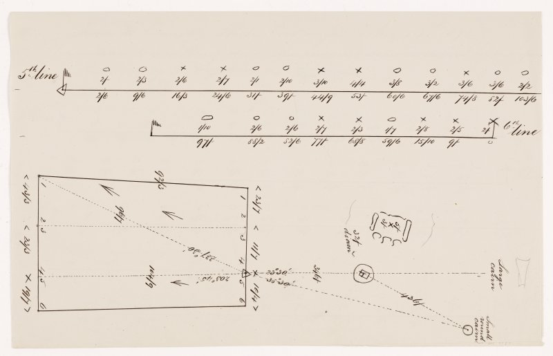 Plan of Camster stone rows. Drawing 2 of 2.