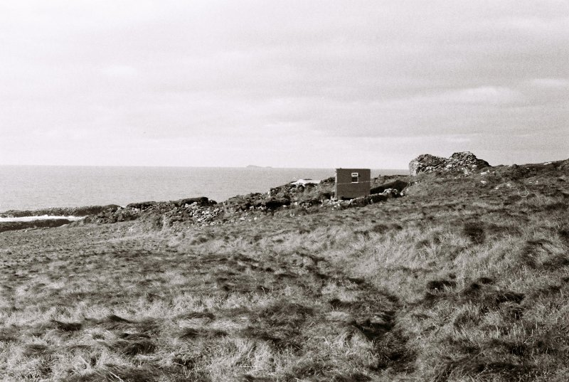 SMRU hut, church & township from the east, 1981.