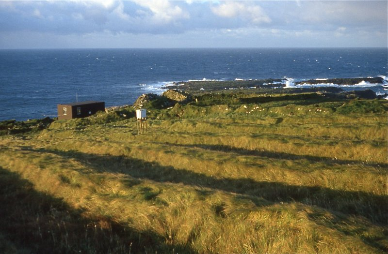 SMRU Hut & township from NE, 1981.