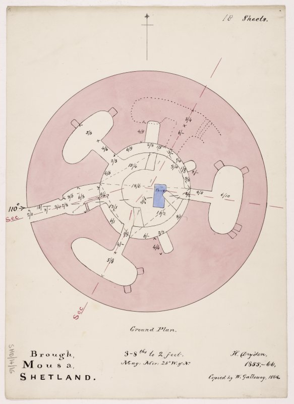 Ground plan of Broch of Mousa.