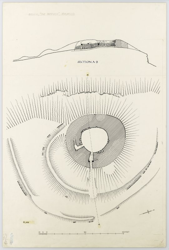 Publication drawing: Torwood Broch. Photographic copy of STD 42/1.