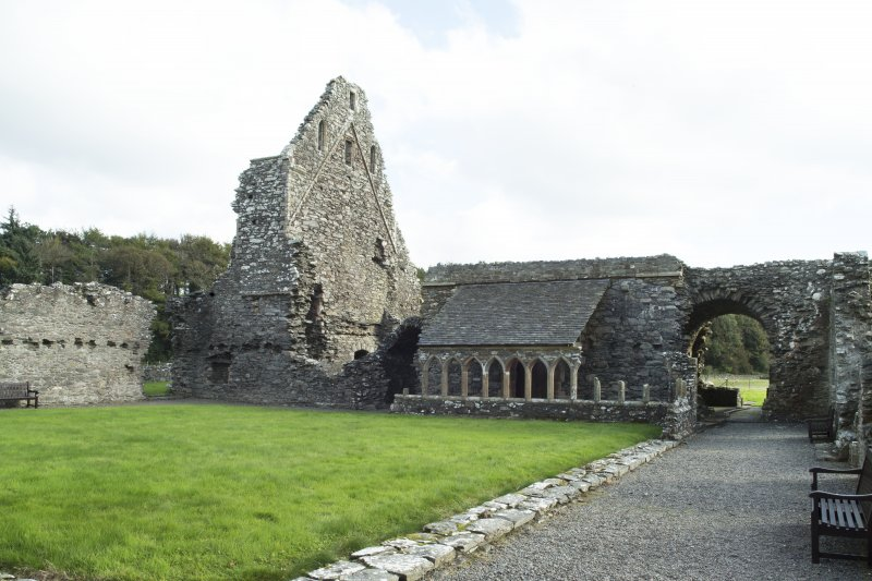 General view of abbey cloister taken from the south west.