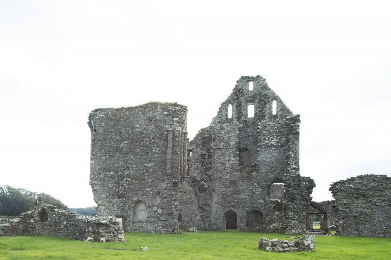 General view of east end of the abbey church taken from the north.