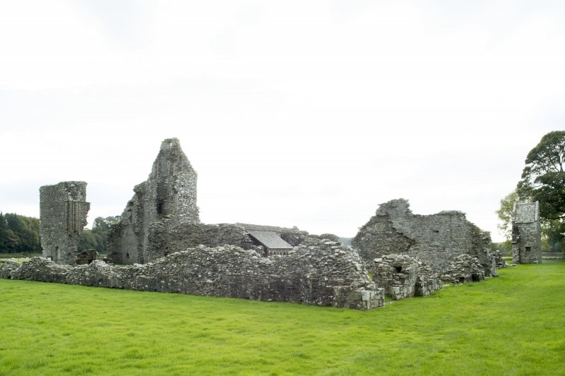 General view of abbey complex taken from the north.