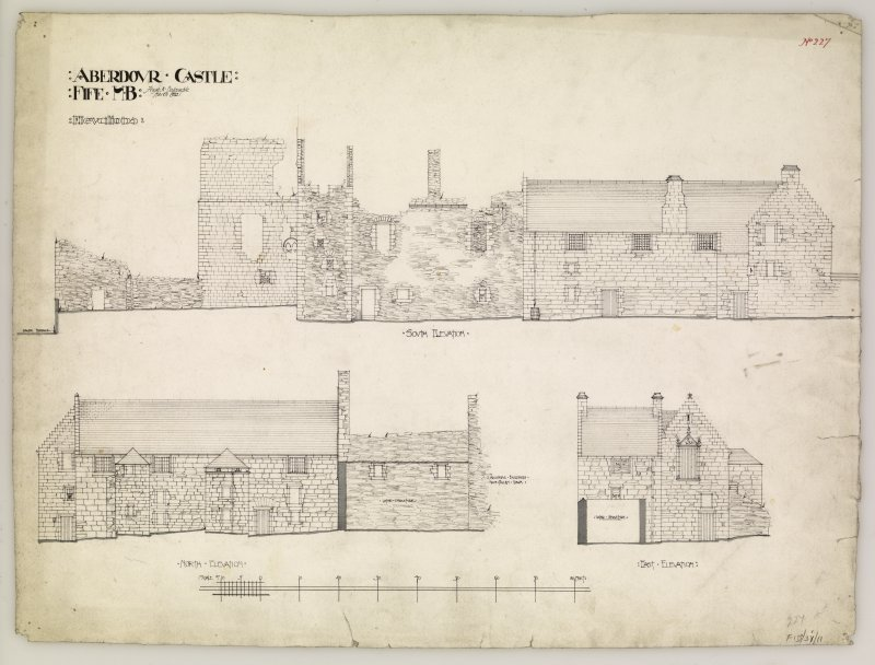 Elevations of Aberdour Castle.