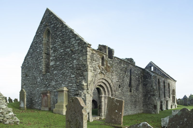 Exterior. General view of Whithorn Priory, taken from the south.