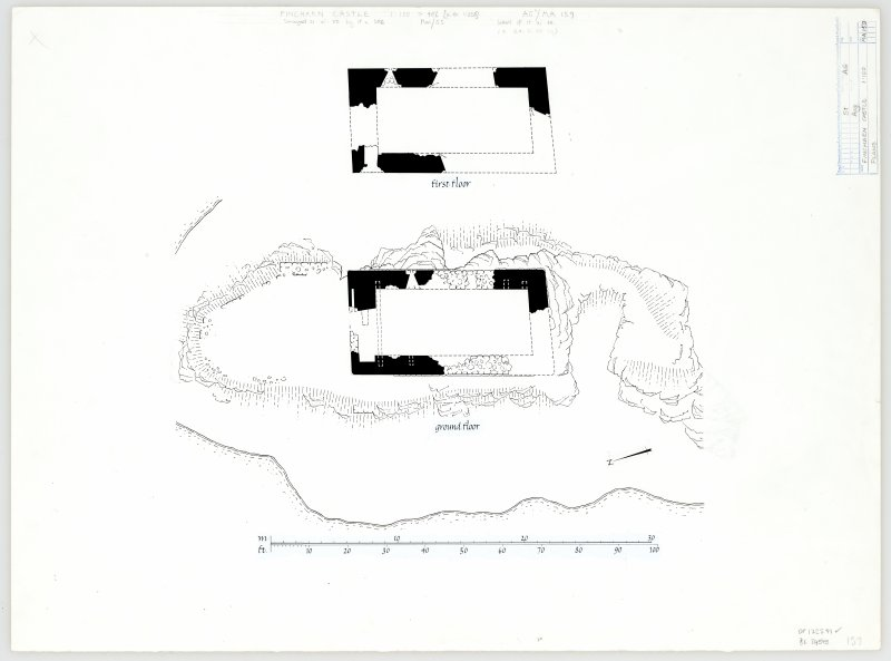 Publication drawing: Finchairn castle, plans.