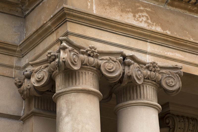 Detail of capitals on main north entrance