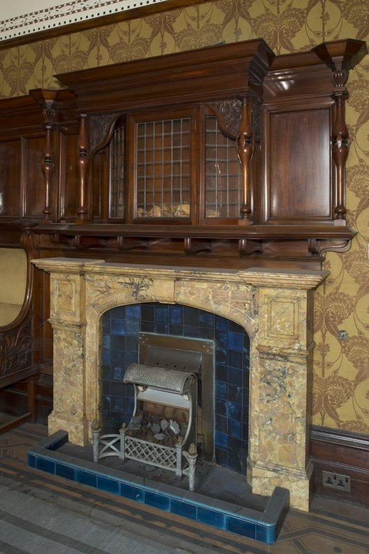 Ground floor, study,  fireplace with overmantle