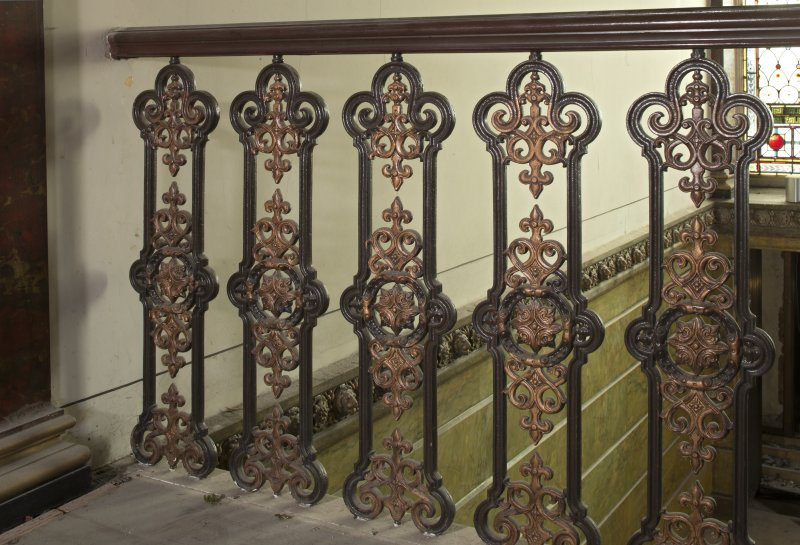 1st floor, landing, detail of balustrade