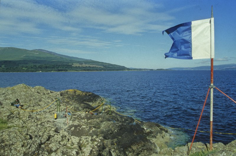The international 'A' flag warns other sea users that divers are down. (Colin Martin)
