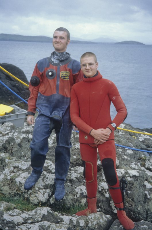 Peter Martin (left) and Edward Martin (right) participated as divers, boatmen, tenders and photographer (Edward) and archaeological draughtsman (Peter) throughout the project. (Colin Martin)