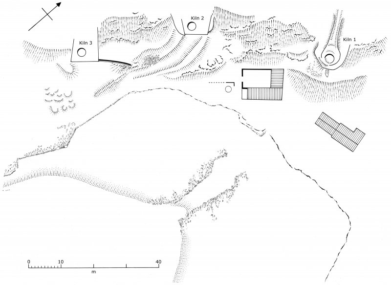General plan of the lime works on Sheep Island. (Colin Martin)