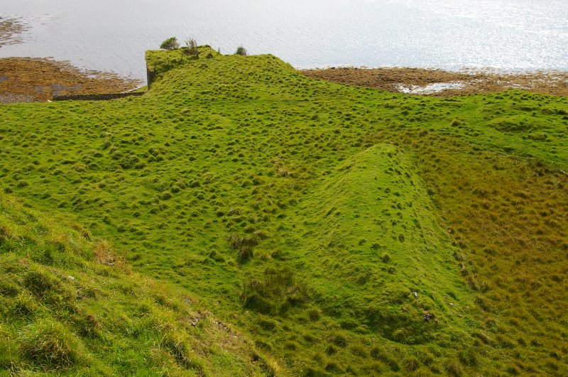 The quarry floor, looking SE. The purpose of the long mounds is not known. (Colin Martin)