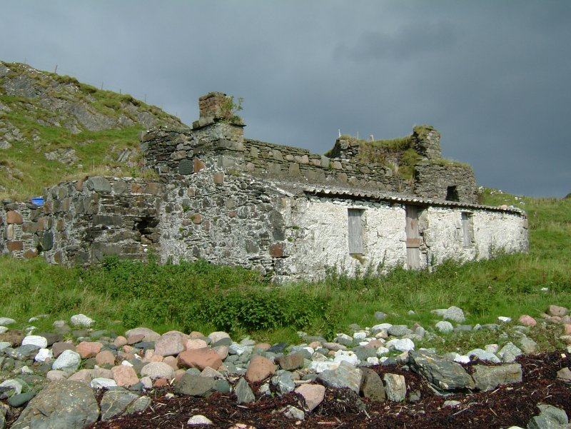 The lean-to structure on the seaward side of the enclosure was probably a store for the processed lime. (Paula Martin)