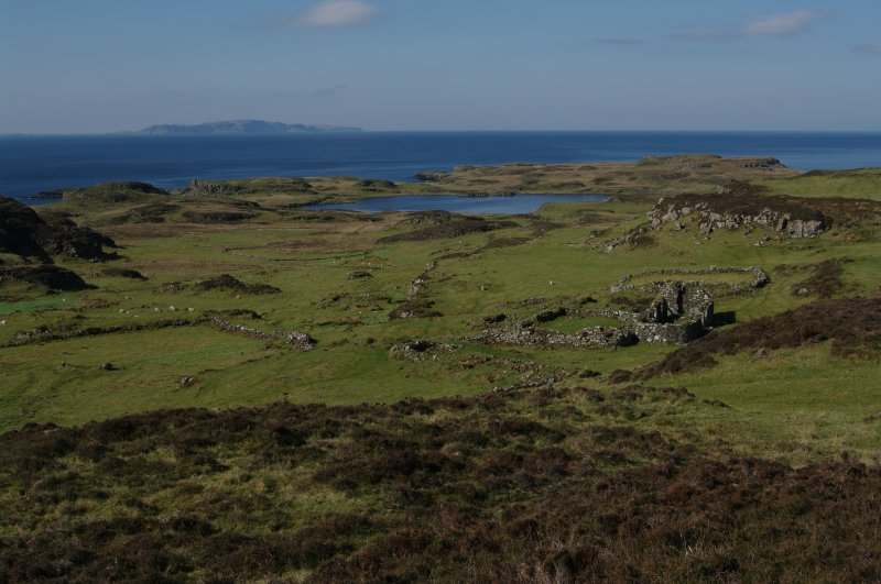 Loch na h-Airde from the settlement above Rubh' an Dùnain, looking SW.