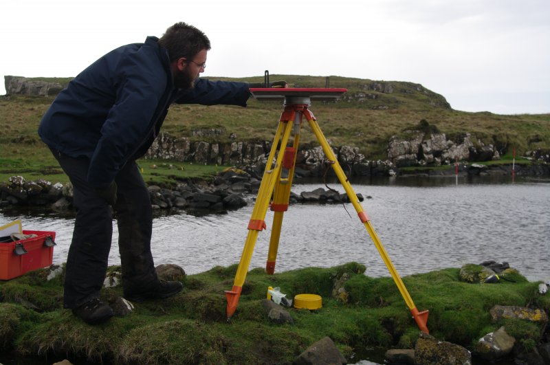 Within the Total Station network much of the detailed survey was done by plane table. (Colin Martin)