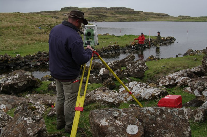 Dr Chris Burgess established a survey network with Total Station. Within this framework the detailed survey was carried out with traditional methods. (Colin Martin)