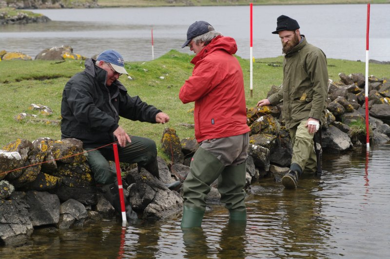 Beginning a survey of the canal. From left, Roger Miket, who first recognised the site's potential in the 1980s, Dr David Caldwell of the National Museums of Scotland, and Peter Martin (Colin Martin)
