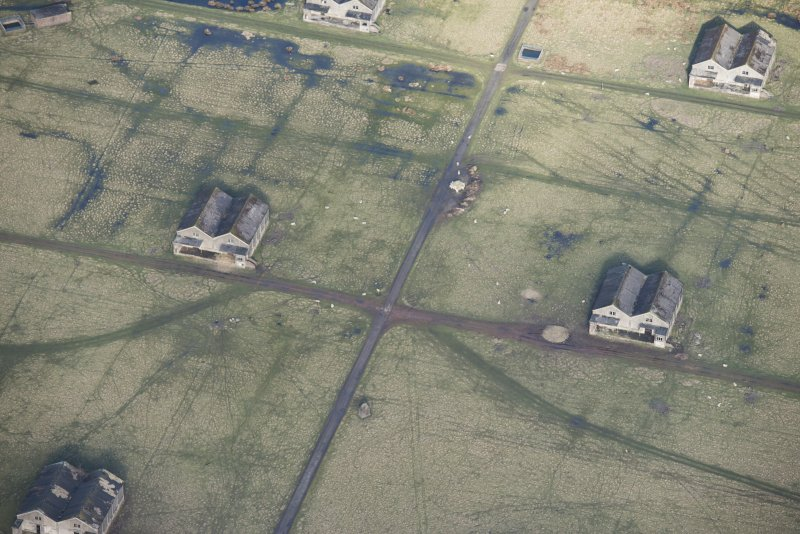 Oblique aerial view of Throsk Royal Naval Armament Depot, looking NNE.