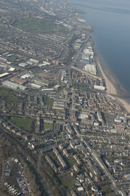 Oblique aerial view of Portobello, looking to the NW.