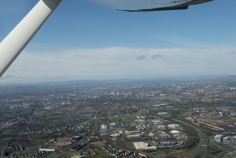 General oblique aerial view of Glasgow with Shettleston in the foreground, looking W.