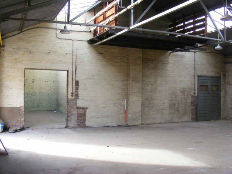 Interior view of the E wall of Building 10