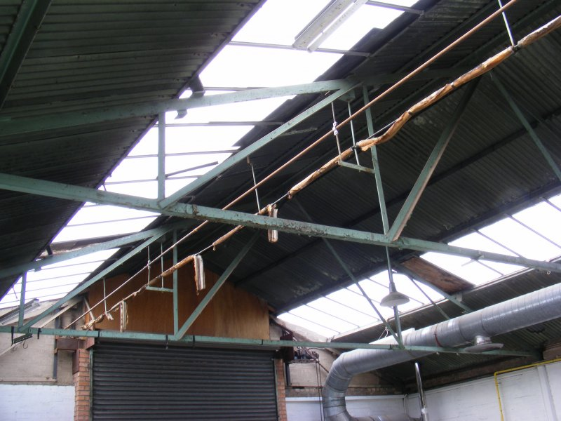 Roof beams  of unit 2 in Building 10