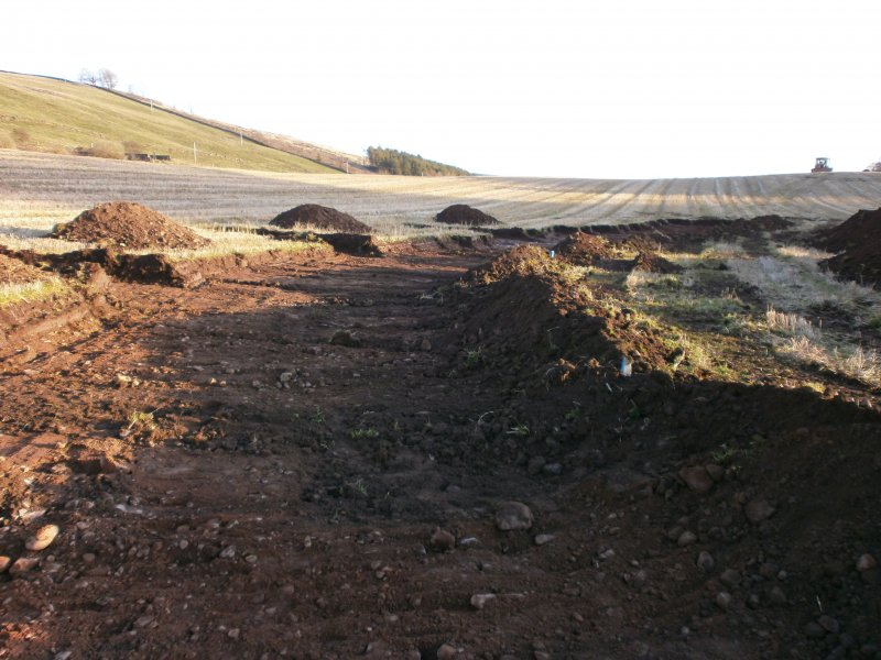 General, topsoil stripping of Haul Road for watching brief at Barburgh Mill Quarry Extension