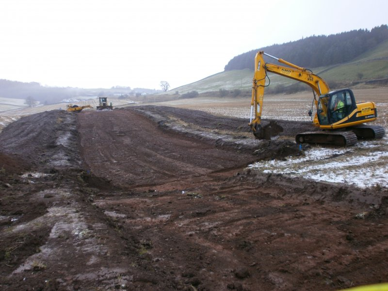 Topsoil stripped area – general for watching brief at Barburgh Mill Quarry Extension