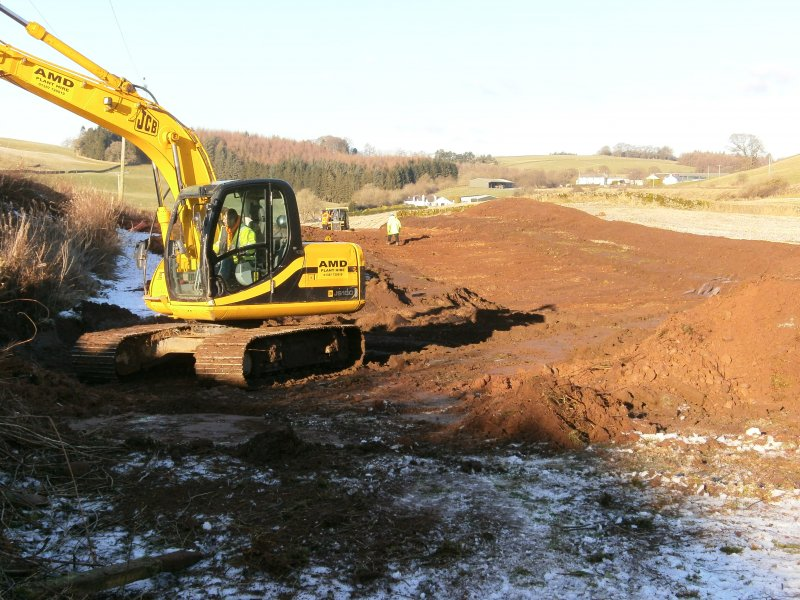 General, south field stripped area for watching brief at Barburgh Mill Quarry Extension