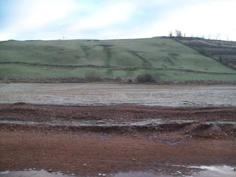Pre ex shot of area for silt lagoons for watching brief at Barburgh Mill Quarry Extension