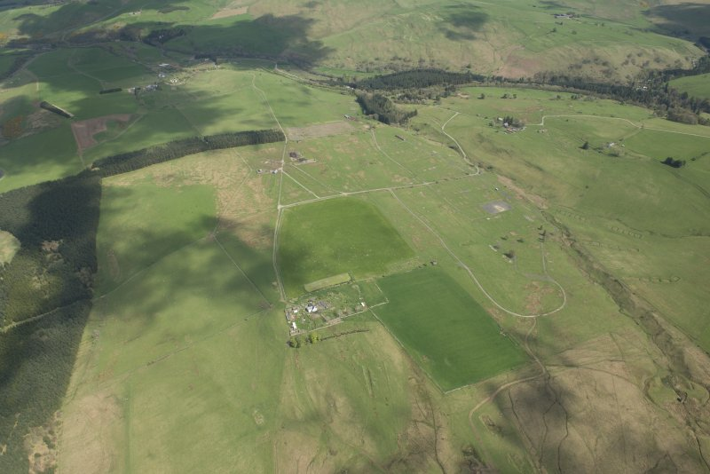 General aerial view of Stobs Camp, looking ENE.