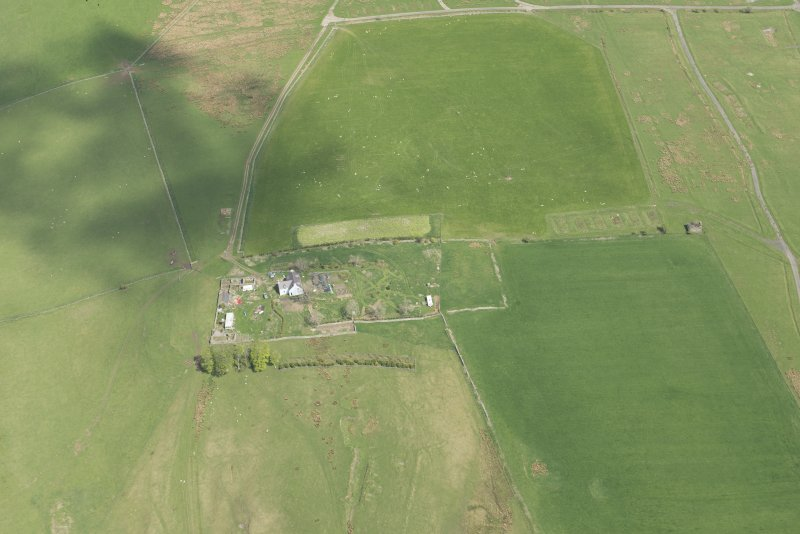 Oblique aerial view of Stobs Camp, looking NE.