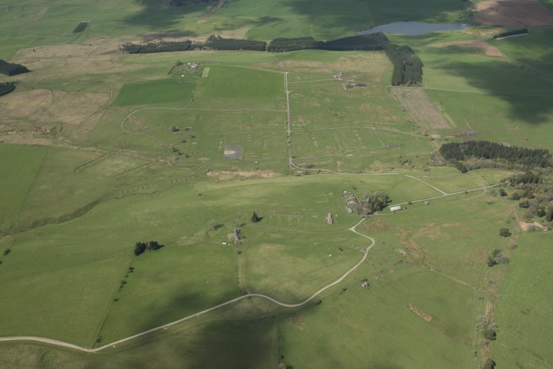 General aerial view of Stobs Camp, looking NW.