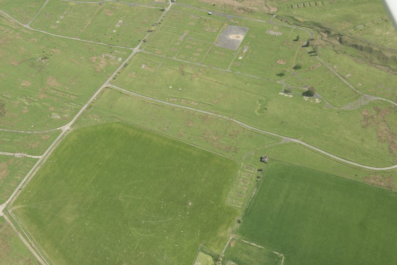 Oblique aerial view of Stobs Camp, looking ESE.