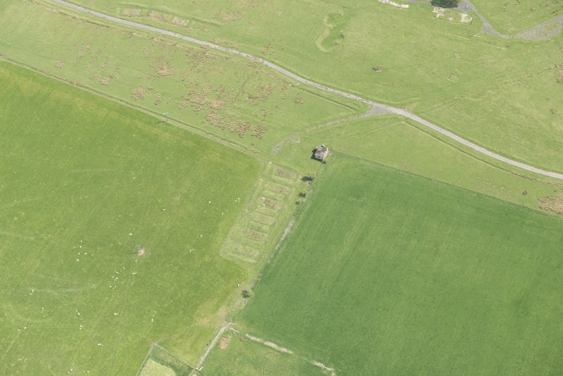 Oblique aerial view of Stobs Camp, looking SE.