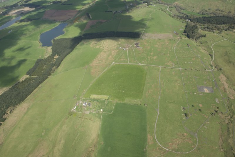 General aerial view of Stobs Camp, looking NE.