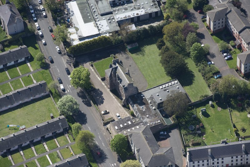 Oblique aerial view of Craigentinny House, looking WSW.