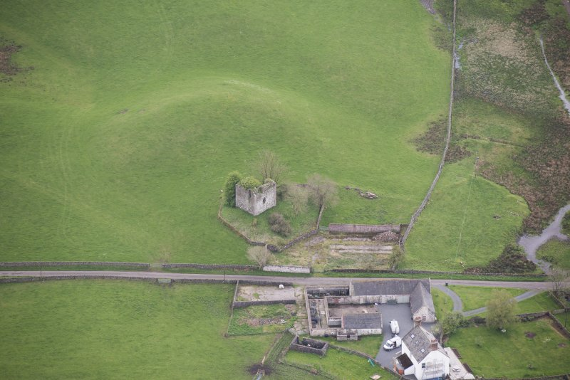 Oblique aerial view of Lag Tower, looking SSE.