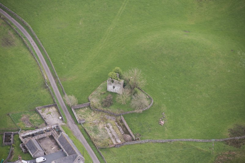 Oblique aerial view of Lag Tower, looking ENE.