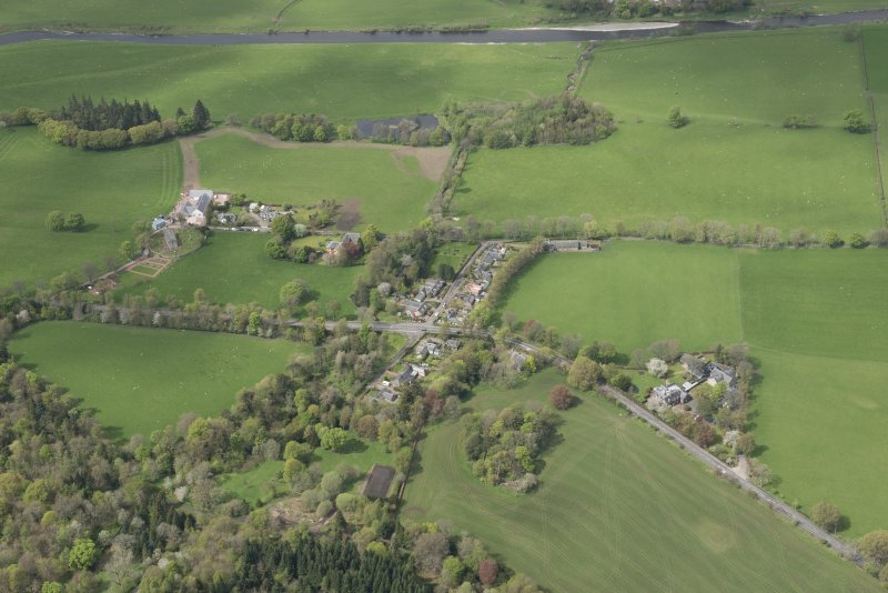 Oblique aerial view of Lamington, looking NW.