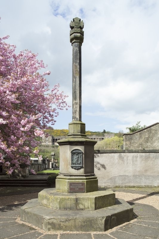 General view of Burgh Cross, Canongate, Edinburgh, from S.