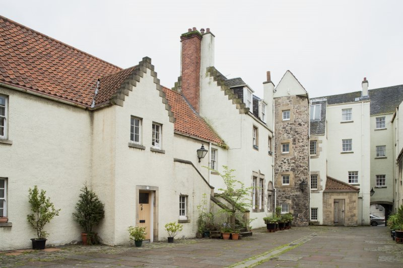 General view of 1-12 White Horse Close, 29 Canongate, Edinburgh, from N.